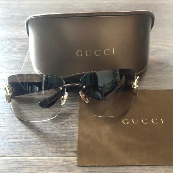 a4ab470c8b87 Gucci Accessories | Gradient Rimless Logo Sunglasses | Poshmark
